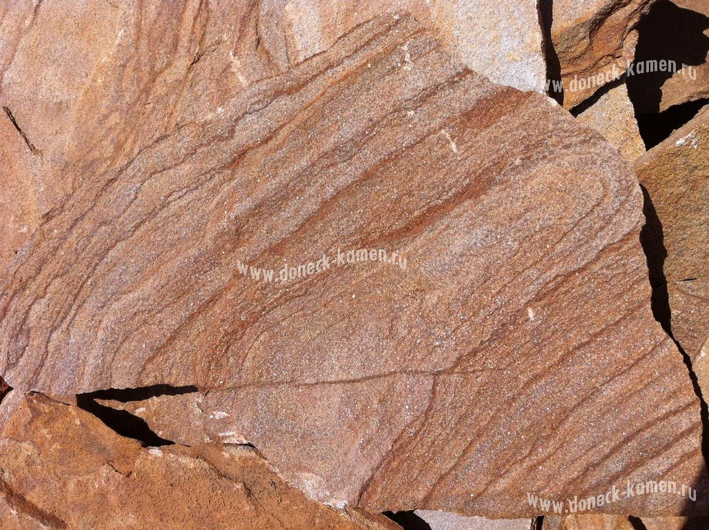 песчаник коричневый с разводом
